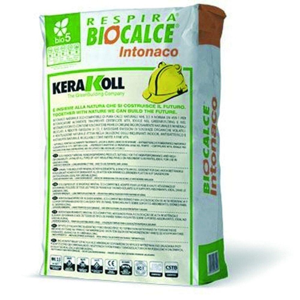 Biocalce intonaco kg25 kerakoll trasporto materiali edili - Prezzo intonaco esterno ...