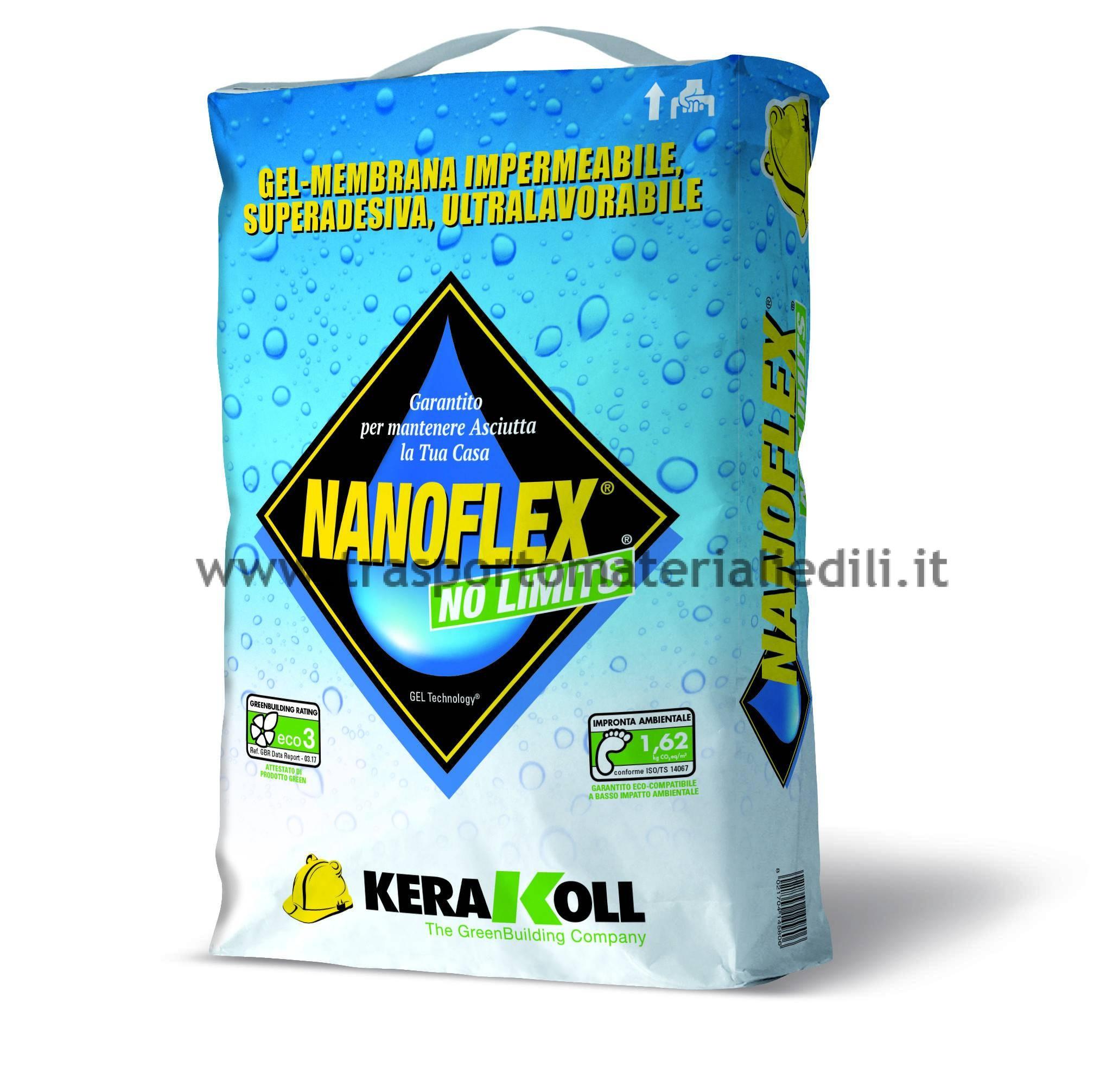 NANOFLEX KG 20 NO LIMITS KERAKOLL - Trasporto Materiali edili